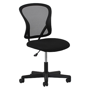 OFM Essentials Fabric Computer and Desk Office Chair, Armless, Black (89191013419)
