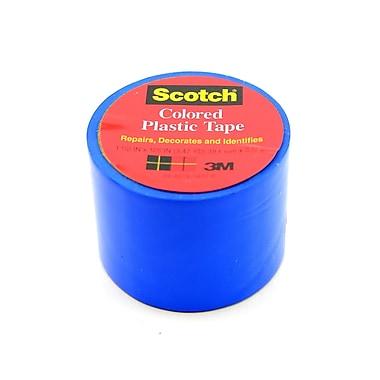 Scotch Colored Plastic Tape Blue 1 1/2 In. [Pack Of 12] (12PK-191BLU)