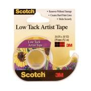 3M Scotch Low Tack Artist Tape 3/4 In. X 10 Yd. [Pack Of 6] (6PK-FA2020)