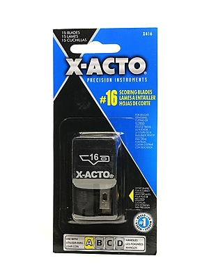 X-Acto No. 16 Scoring Blades Dispenser Of 15 [Pack Of 3] (3PK-X416)