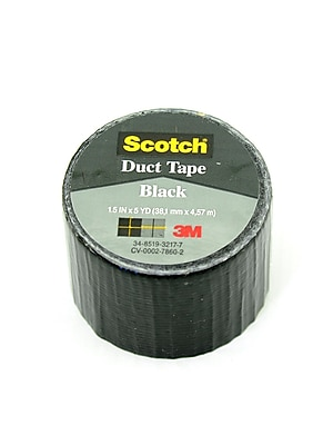 3M Duct Tape Black [Pack Of 12] (12PK-1005-BLK-IP)