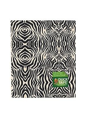 Duck Duct Tape Sheets 8 1/4 In. X 10 In. Zig-Zag Zebra Each [Pack Of 8] (8PK-280092)