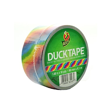 Duck Printed Duct Tape 1.88 In. X 10 Yd. Roll Rainbow [Pack Of 3] (3PK-281496)