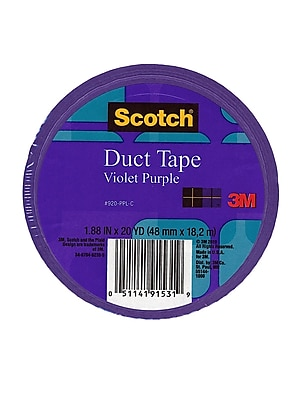Scotch Colored Duct Tape Violet Purple 1.88 In. X 20 Yd. Roll, 6/Pack, (6PK-920-PPL-C)