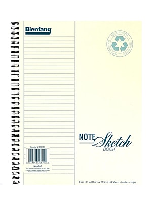Bienfang Note Sketch Book Vertical Format 11 In. X 8 1/2 In. [Pack Of 2] (2PK-239101)