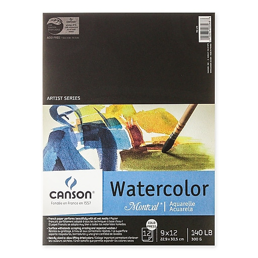 Canson Montval Watercolor Paper 9 In. X 12 In. Pad Of 12 140 Lb. Cold Press [Pack Of 3] (3PK-100511051)