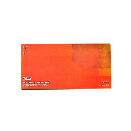 Global Art Fluid Cold Press Watercolor Paper 6 In. X 12 In. Block (880612)