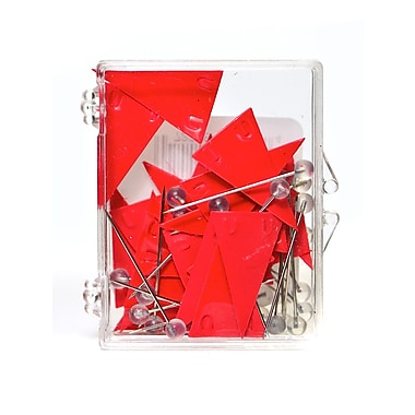 Moore Map Flags Pennant Red [Pack Of 3] (3PK-P-602)