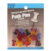 Moore Push Pins Assorted Gem Stone Plastic Pack Of 100 [Pack Of 3] (3PK-2P-100-AGS)