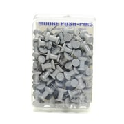 Moore Push Pins Slate Gray Plastic Pack Of 100 [Pack Of 3] (3PK-2P-100 SLG)