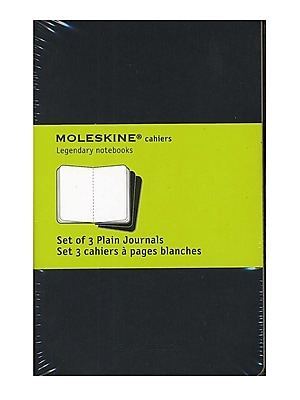 Moleskine Cahier Journals Black, Blank 3 1/2 In. X 5 1/2 In. Pack Of 3, 64 Pages Each [Pack Of 3] (3PK-9788883704918)
