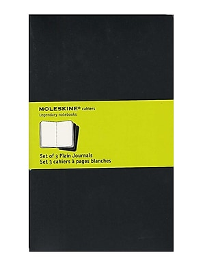 Moleskine Cahier Journals Black, Blank 5 In. X 8 1/4 In. Pack Of 3, 80 Pages Each [Pack Of 3] (3PK-9788883704970)