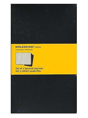 Moleskine Cahier Journals Black, Graph 5 In. X 8 1/4 In. Pack Of 3, 80 Pages Each [Pack Of 3] (3PK-9788883704963)