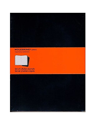 Moleskine Cahier Journals Black, Ruled 7 1/2 In. X 9 3/4 In. Pack Of 3, 120 Pages Each [Pack Of 3] (3PK-9788883705014)