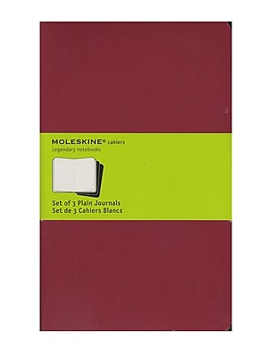 Moleskine Cahier Journals Red, Blank 5 In. X 8 1/4 In. Pack Of 3, 80 Pages Each [Pack Of 3] (3PK-9788862931038)