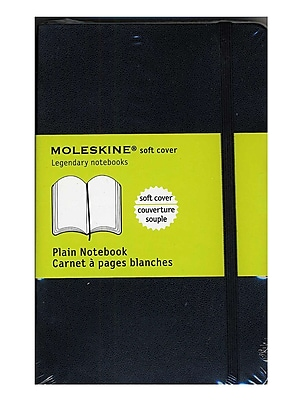 Moleskine Classic Soft Cover Notebooks Blank 3 1/2 In. X 5 1/2 In. 192 Pages [Pack Of 3] (3PK-9788883707148)