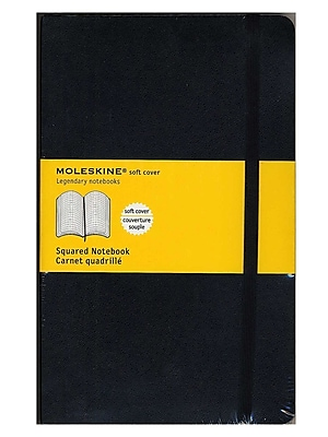 Moleskine Classic Soft Cover Notebooks Graph 5 In. X 8 1/4 In. 192 Pages [Pack Of 3] (3PK-9788883707186)