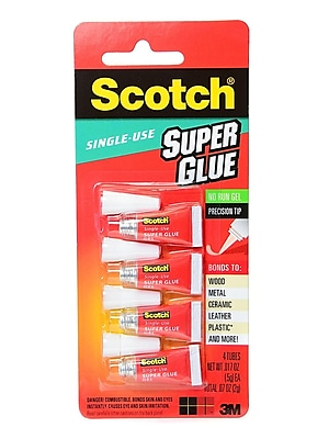 Scotch Single Use Super Glue Gel 0.017 Oz. Pack Of 4 [Pack Of 6] (6PK-AD119)