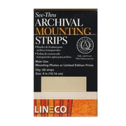 Lineco Self-Stick Mounting Strips 4 In. Pack Of 60 (L533-4015)