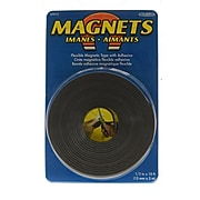 The Magnet Source Flexible Magnetic Strips With Adhesive 1/2 In. X 10 Ft. [Pack Of 4] (4PK-07012)