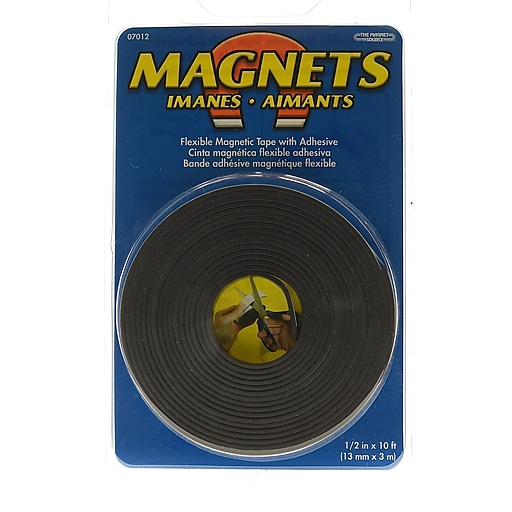 the magnet source flexible magnetic strips with adhesive 1 2 in x