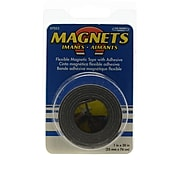 The Magnet Source Flexible Magnetic Strips With Adhesive 1 In. X 30 In. [Pack Of 6] (6PK-07053)