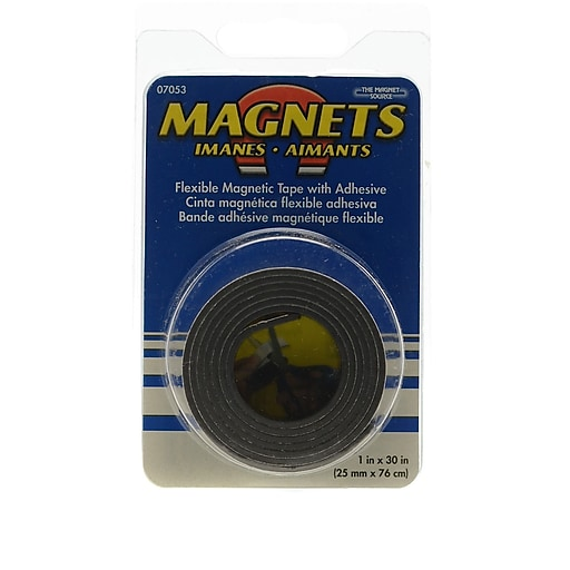 the magnet source flexible magnetic strips with adhesive 1 in x 30