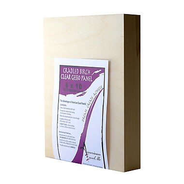 American Easel Primed Wood Painting Panel 8 In. X 10 In. Clear Gesso [Pack Of 2] (2PK-AECL0810-D)