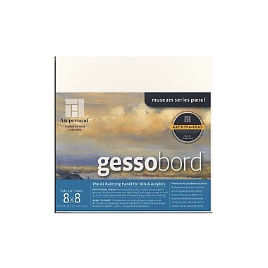 Ampersand Gessobord 8 In. X 8 In. 1/8 In. Each [Pack Of 3] (3PK-GBS088)