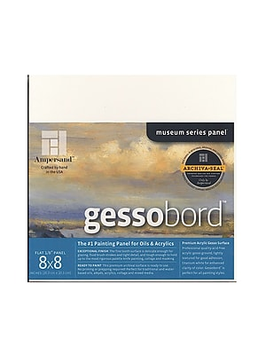 Ampersand Gessobord 8 In. X 8 In. 1/8 In. Each [Pack Of 3] (3PK-GBS088)