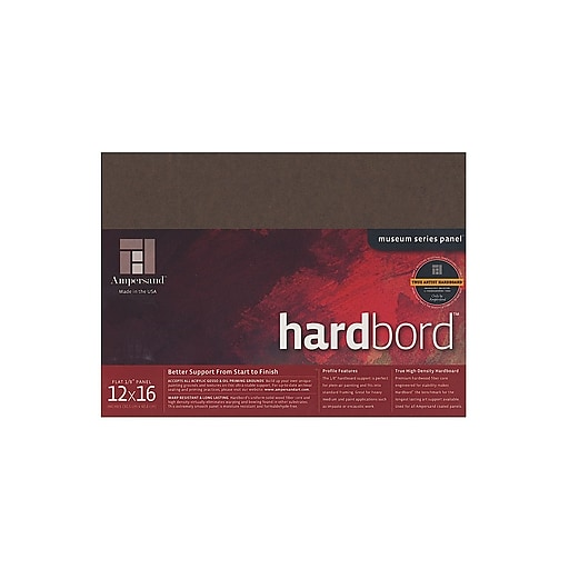 Ampersand Hardbord 12 In. X 16 In. Each [Pack Of 3] (3PK-HB12)