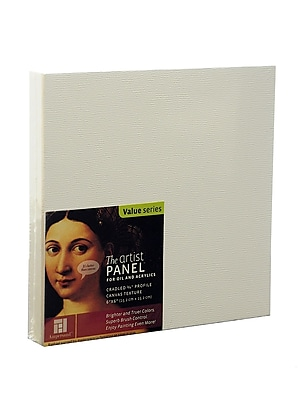 Ampersand The Artist Panel Canvas Texture Cradled Profile 6 In. X 6 In. 3/4 In. [Pack Of 3] (3PK-APC.75 066)