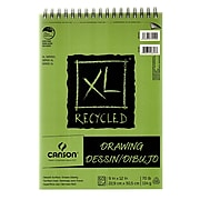 Canson XL Recycled Drawing Pads, 9 In. x 12 In., Pad Of 60 Sheets, WireBound Top, Pack Of 3 (3PK-100510915)