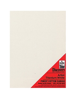 Discovery Finest Stretched Cotton Canvas White 11 In. X 14 In. Each [Pack Of 4] (4PK-TX161114)