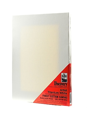 Discovery Finest Stretched Cotton Canvas White 12 In. X 16 In. Each [Pack Of 3] (3PK-TX161216)