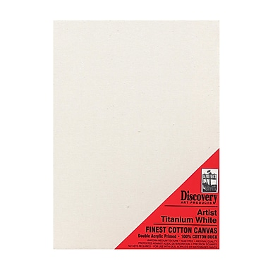 Discovery Finest Stretched Cotton Canvas White 16 In. X 20 In. Each (TX161620)