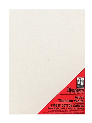 Discovery Finest Stretched Cotton Canvas White 18 In. X 24 In. Each [Pack Of 2] (2PK-TX161824)