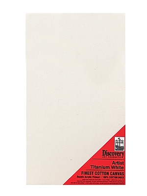 Discovery Finest Stretched Cotton Canvas White 18 In. X 36 In. Each (TX161836)