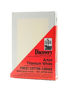 Discovery Finest Stretched Cotton Canvas White 5 In. X 7 In. Each [Pack Of 6] (6PK-TX160507)
