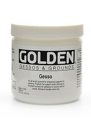 Golden Acrylic Gesso White 16 Oz. (3550-6)