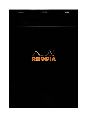 Rhodia Classic French Paper Pads Graph 8 1/4 In. X 11 3/4 In. Black [Pack Of 3] (3PK-182009)