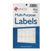 Maco Multi-Purpose Handwrite Labels Rectangular 1/2 In. X 3/4 In. Pack Of 1000 [Pack Of 6] (6PK-MS-812)
