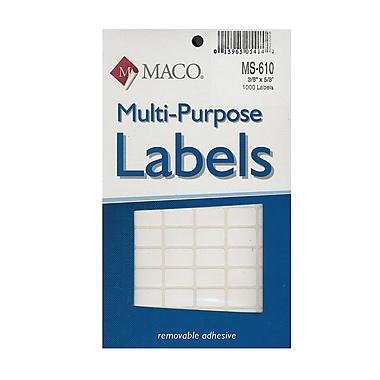 Maco Multi-Purpose Handwrite Labels Rectangular 3/8 In. X 5/8 In. Pack Of 1000 [Pack Of 6] (6PK-MS-610)