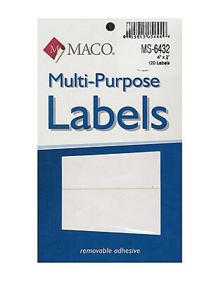 Maco Multi-Purpose Handwrite Labels Rectangular 4 In. X 2 In. Pack Of 120 [Pack Of 6] (6PK-MS-6432)