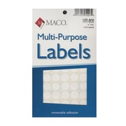 Maco Multi-Purpose Handwrite Labels Round 1/2 In. Pack Of 1000 [Pack Of 6] (6PK-MR-808)