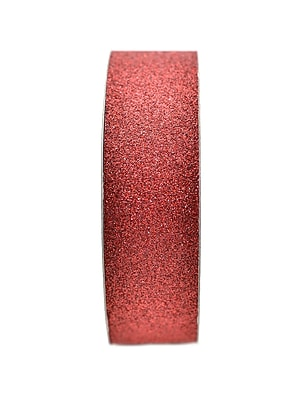 American Crafts Glitter Tape 7/8 In. Rouge 3 Yd. Spool [Pack Of 9] (9PK-96014)
