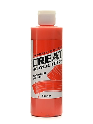 Createx Acrylic Colors Scarlet 8 Oz. [Pack Of 3] (3PK-2005-08)