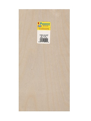 Midwest Thin Birch Plywood Aircraft Grade 1/32 In. 6 In. X 12 In. [Pack Of 3] (3PK-5121)