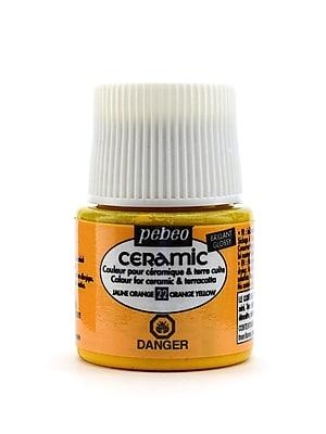 Pebeo Ceramic Air Dry China Paint Orange Yellow 45 Ml [Pack Of 3] (3PK-025-022)