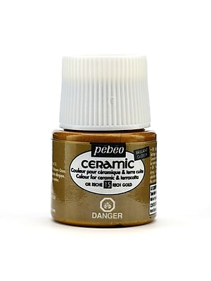 Pebeo Ceramic Air Dry China Paint Rich Gold 45 Ml [Pack Of 3] (3PK-025-015)